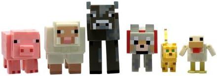 Minecraft 16590 - Figurines Articulées Articulées Articulées avec Accessoires Coffret 6 Animaux | Pour Gagner L'éloge Chaleureux Auprès De Ses Clients  d01837