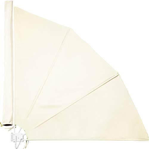 TecTake 800577 Balkonfächer, witterungsbeständig, inkl. Montagematerial, Totalmaße (BxTxH): ca. 140x7,5x140cm - Diverse Farben - (Beige | Nr. 402874)