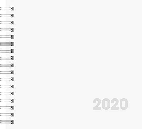 Brunnen 1076201 Buchkalender Quadratkalender klein, 2 Seiten = 1 Woche, 162 x 150 mm, Karton-Umschlag, Kalendarium  2019