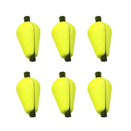 Cikuso 6 Stück Fliegenfischen Float Bissanzeiger Schaum Gelb