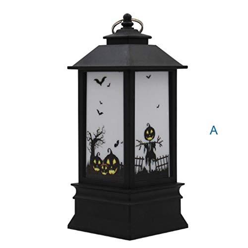 TAOtTAO 1 Stück Halloween Kerze mit LED Teelicht Kerzen für Halloween Dekoration Teil ()