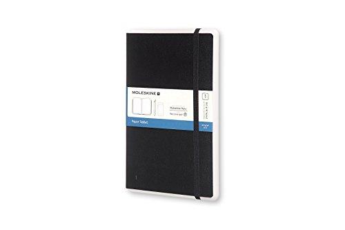 Moleskine Notebook Paper Tablet, Taccuino Digitale con Pagine Puntinate e Copertina Rigida, Notebook Adatto all'Uso con Pen Moleskine+, Colore Nero, Large (13 x 21 cm)
