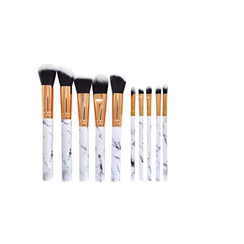 Marmor Make-Up Pinsel Make-Up Pinsel Augen Make-Up-Tool Für Frauen Set Und Mädchen Weiß Unteres Schwarz Korn 10pcs 1 Satz -
