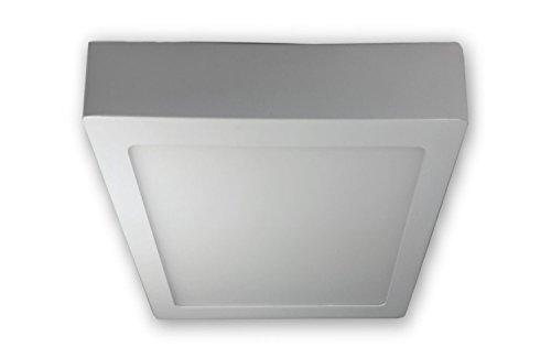 18 W - LED Aufbauleuchte eckig 230 V - weiss