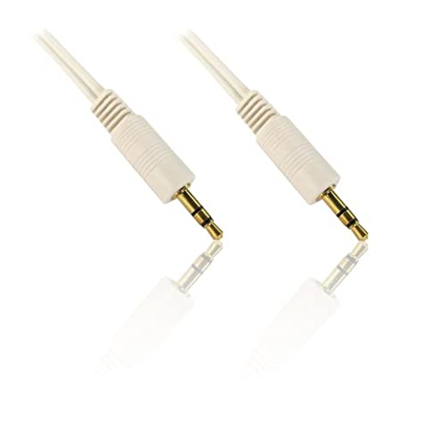 CDL Micro Câble audio jack/jack 3,5 mm Blanc 10 m