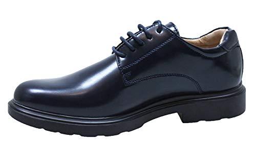 Evoga Scarpe uomo casual eleganti lucide sneakers parigine con tacco (41, Blu)