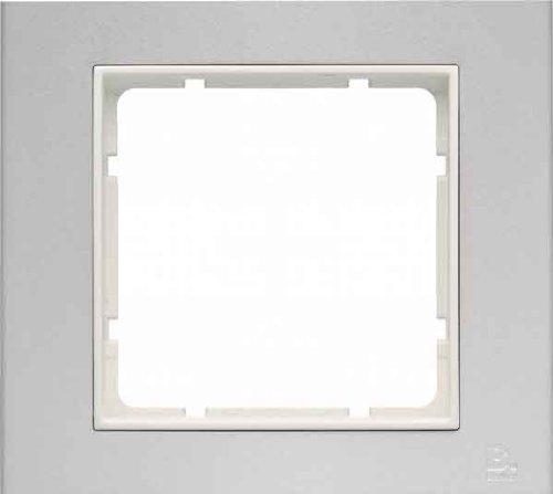 Hager B3–1Rahmen Aluminium weiß Element Polar