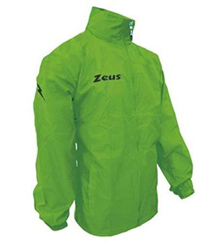 K-way Rain Corsa Sport Uomo Pioggia Running jogging Allenamento Relax Calcio Calcetto Impermeabile Scuola Sport (Verde Fluo, M)