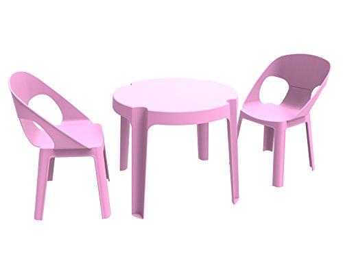 Resol Set Rita - Color Rosa, 1 Mesa y 2 sillas
