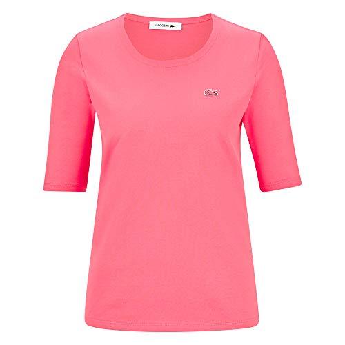 Lacoste Damen Shirt Halbarm Koralle (73) 38