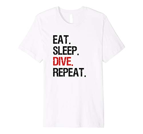 EAT SLEEP DIVE REPEAT Gerätetauchen Apnoe Taucher T-Shirt