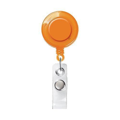 Carta di Identità Retraibile / Porta Badge / Ski Pass / Nome - Arancione