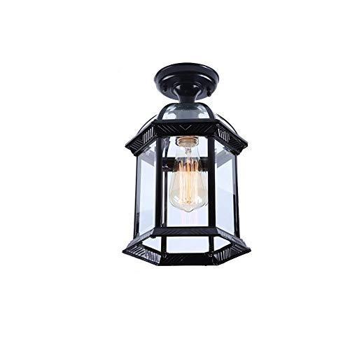 e transparente Glasdeckenleuchte Balkon Innenhof Korridor Terrasse wasserdichte Outdoor Flush Mount Deckenleuchte Lampe ()