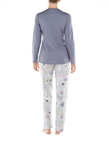 CALIDA Brittany, Pyjamas Deux-Pièces Femme Blue (Blue Granite 316)