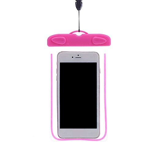 Aiming Schwimmen Wasserdichte Unterwasser Tasche mit Trageriemen Noctilucent PVC-Abdeckung Bag Dry Fall für Smartphones (Mit Telefon Tasche Trageriemen)