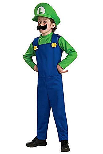 Bros Kostüm Cute Mario - Kranchungel Funny Cosplay Costume Super Mario Brothers Mario Luigi Costume Fancy Dress Up Party Costume Cute Costume Children Green Large