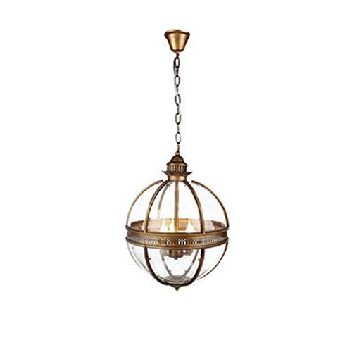 Vintage-Stil Travel Anforderungen an Freizeitbälle Kugelscheinwerfer Messing 3 Lampenfassung (Durchmesser 165 Zoll) Gold
