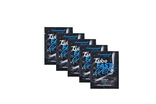 Extasialand Fastwet® 5x 4ml Gleitgel Sachets auf Wasserbasis Gleitgel - Massagegel wasserbasiert mit viel Gleitfreude und waterbased Lube