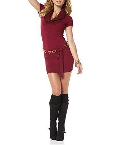 Kleid Strickkleid von melrose - Bordeaux Gr. 42