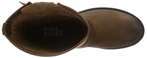 Bullboxer Biker Boots, Bottes Motardes femme Marron (Cognac)