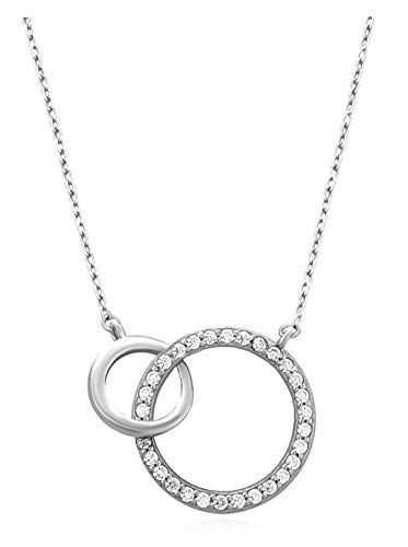 SOFIA MILANI 50091 Necklace for women with 2 circular rings, sterling silver 925