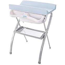 Bañera alta Spalsh ZY Baby - compacta con cambiador, baño para bebes, asiento anatómico - Zippy (Azul)