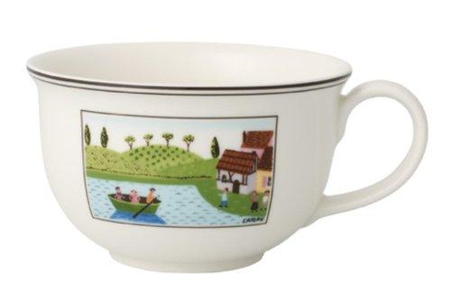 Villeroy & Boch Charm & Breakfast Design Naif Café au Lait-Tasse, 500 ml, Höhe: 7 cm, Premium Porzellan, Weiß/Bunt -