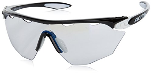 ALPINA Sonnenbrille Twist Four Shield VLM+ White-Black, One Size
