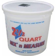 Encore Kunststoffe ls610862,5Quart Mix 'n Maßnahme kommt Behälter ohne Deckel-(12Stück) 2.5 Quart Mix