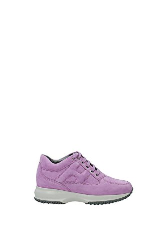 HXW00N00010CR0L203 Hogan Sneakers Damen Wildleder Rosa Rosa