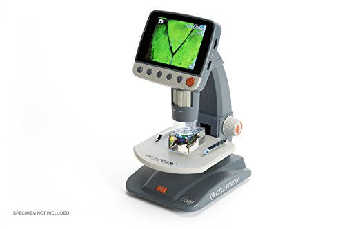 Celestron Infiniview LCD-Mikroskop (8,9 cm (3,5 Zoll) TFT-LCD-Display, 5 Megapixel Sensor, 4x bis 160x Vergrößerung, USB 2.0)