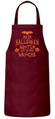 ruppen Frauen Herren Barbecue Baumwoll Grillschürze Kochschürze Mein Halloween Kostüm ist in der Wäsche 3, Größe: OneSize,Burgund ()