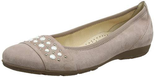 Gabor Shoes Damen Casual Geschlossene Ballerinas, Mehrfarbig (Antikrosa 14), 42 EU -