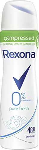 Rexona Deospray compressed Pure Fresh ohne Aluminiumsalze, 75 ml, 6er Pack (6 x 75 ml)