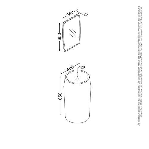 kzoao bagno set di lavaggio colonna I + (Colonne Lisce)