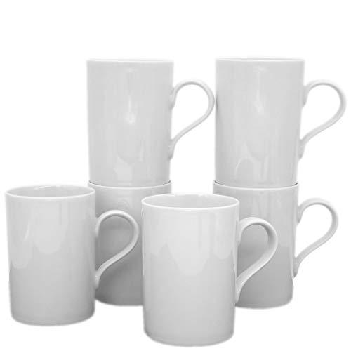 Kahla 530265A90053B Aronda Becher-Set, weiß Kaffeebecher, 6 tlg. 6 Person 300 ml Henkelbecher...