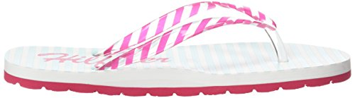 Tommy Hilfiger M3285ARLOW 5D-1, Chaussures de Plage & Piscine fille Multicolore - Mehrfarbig (PINK SPICE/LONGBOARD GREEN 660)