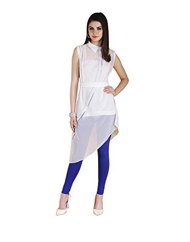 Yepme Febe Kurti Set - White & Blue -- YPMSKD0095_M
