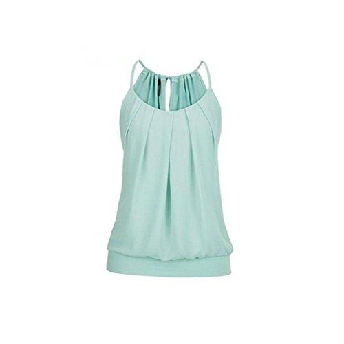 KIMODO T Shirt Bluse Tank Top Damen Camisole Sommer Lose Weste Schwarz Blau Rosa Große Größe Mode 2019 - Rüschen Tiefem Ausschnitt-kleid