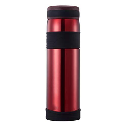 ZHHL ZHL Isolier-Topf, für Damen und Herren, tragbar, für Sport und Outdoor-Aktivitäten, große Kapazität, Edelstahl, 1,2 l, D1 rot (8 Herr Kaffeekanne)