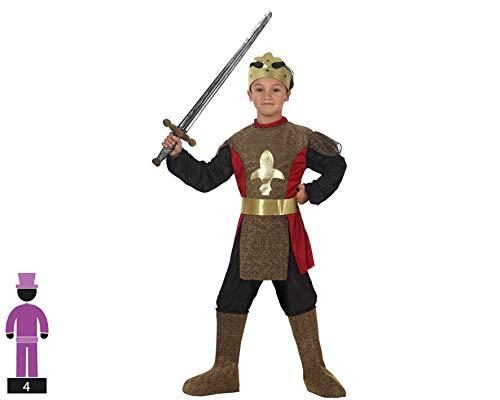 Atosa-95578 Caballero Medieval Disfraz Rey, Color Dorado, 3 A 4 Años (95578