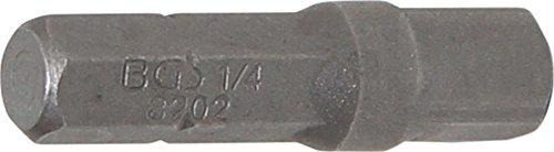 BGS Adapter für 6,3 (1/4) Bits, 4-kant auf 6-kant, 30 mm, 1 Stück, 8202