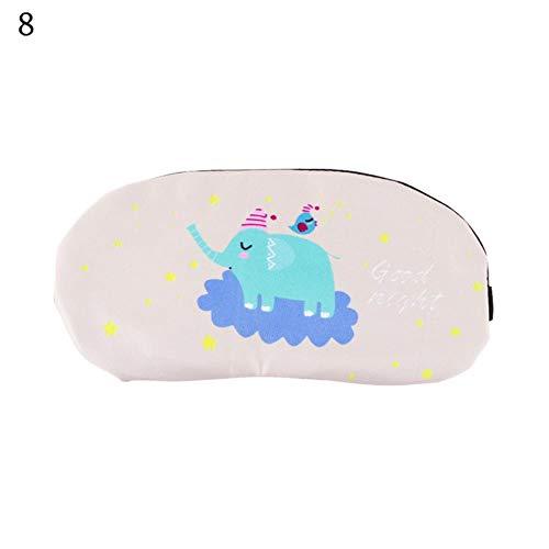 lili Nette Schlafmaske Weich gepolsterter Schlaf Sonnenschutz Comfort Rest Relax Augenbinde Sleeping Aid Augenklappe, A 2 STÜCK