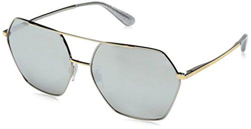Dolce & Gabbana Damen 0DG2157 13076G 59 Sonnenbrille, Silver/Gold/Lightgreymirrorsilver