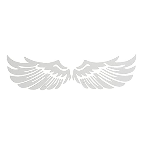 ewinever(TM) White Angel Wing Truck Car Auto Window Laptop Wall Decal Sticker Badge