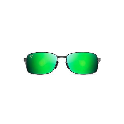 Maui Jim Sonnenbrillen (SHOAL GM-797-02F) matt blau - dunkel grün - pflaumenfarben polarisierte mit grün verspiegelt effekt