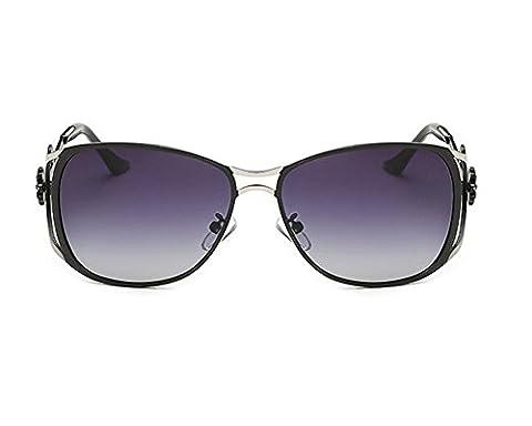 SZXC Ladies Polarized Sunglasses Gradually Diamonds Glasses Fashion , black for outdoor