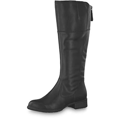 Tamaris Damen Stiefel 25508-23, Frauen KlassischeStiefel, Freizeit Boots reißverschluss Damen Frauen weibliche Lady Ladies Women,Black,42 EU / 8 UK