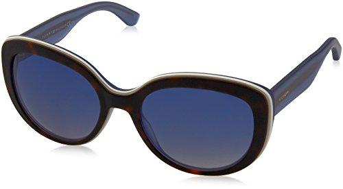 Tommy Hilfiger Damen TH 1354/S UY K18 55 Sonnenbrille, Weiß (Havanwhite Blu Gold/Bluef Grey),