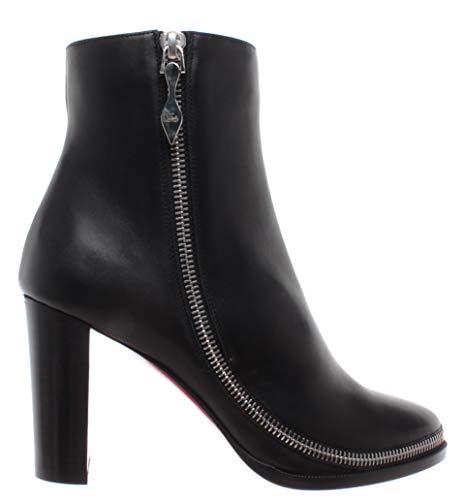 Damen Schuhe Stiefeletten Pumps Paris Telezip Leder Schwarz ()